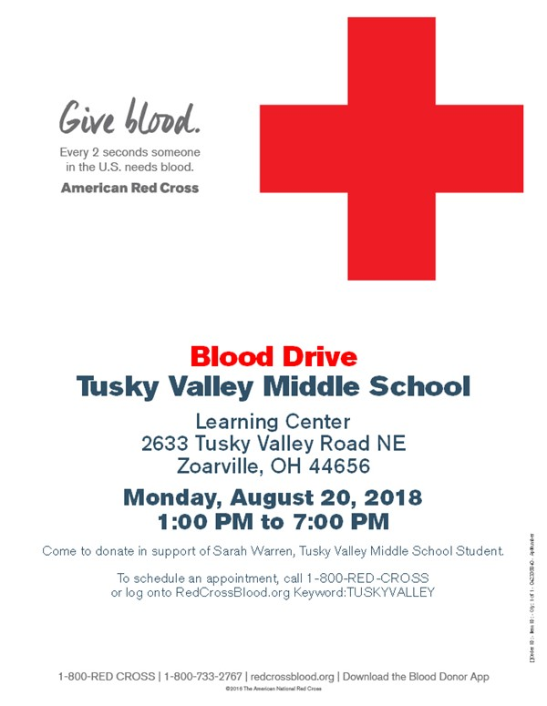 Blood Drive to Support TV Student