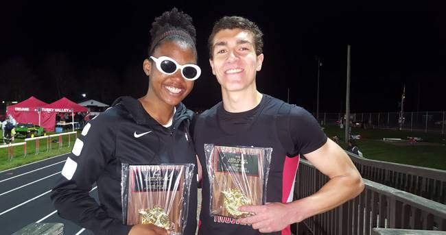 Two Track Athletes