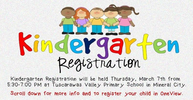 Kindergarten Registration Banner