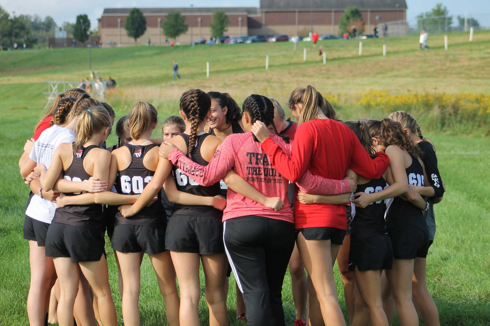 Girls Team Huddle