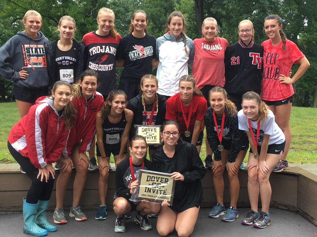 Girls Team takes 1st at Dover Invite