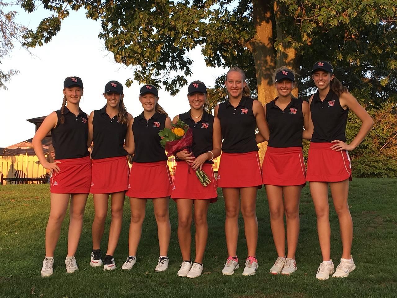 Girls Golf Team On Olivia Galiger's Senior Night