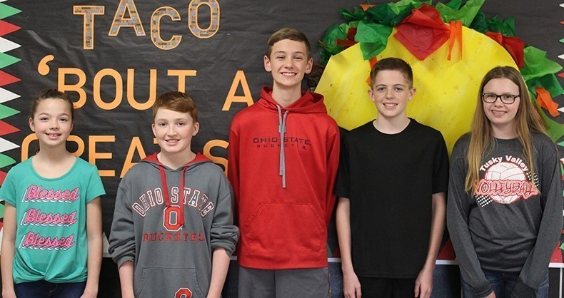 TVMS April Students of the Month