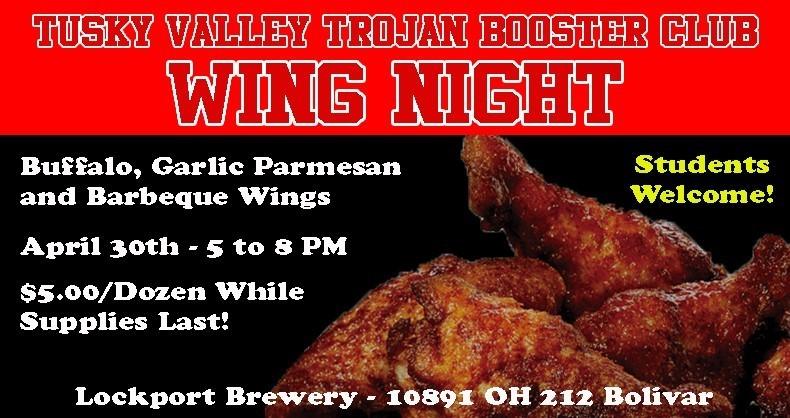 Booster Club Wing Night