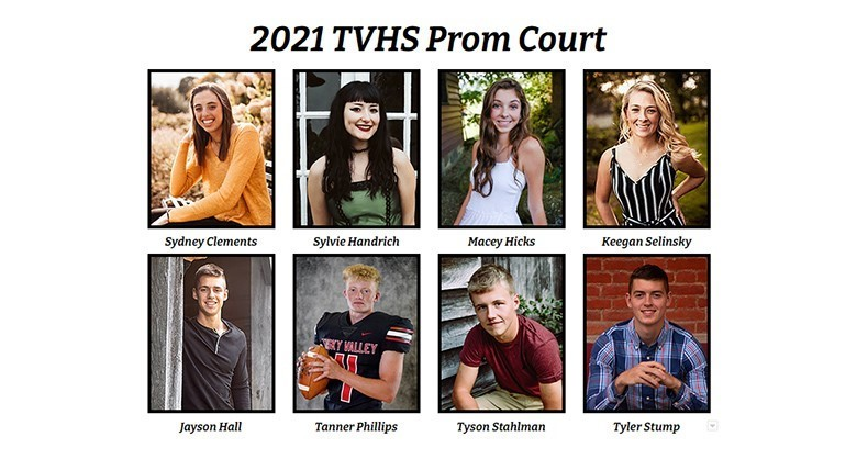 2021 TVHS Prom Court
