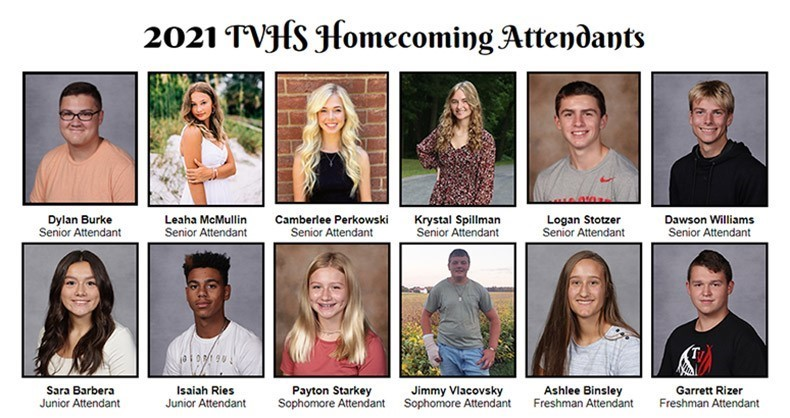 2021 Homecoming Attendants